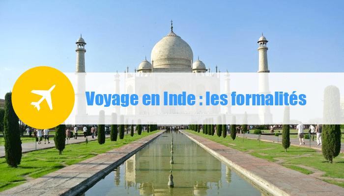 formalites voyage inde